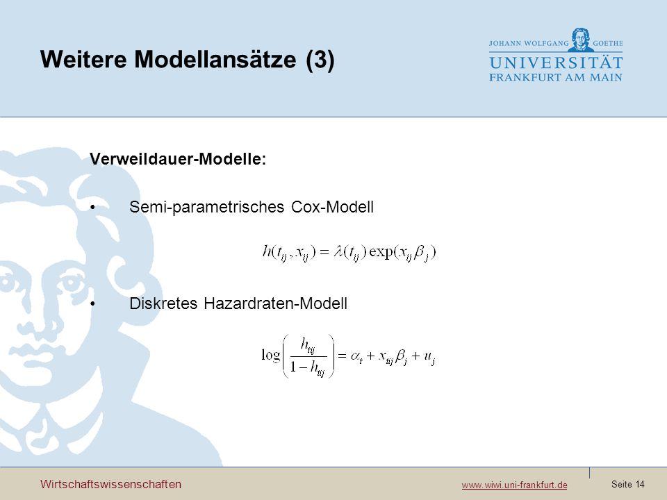 Weitere Modellansätze (3)