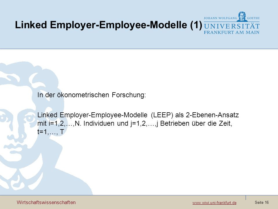 Linked Employer-Employee-Modelle (1)