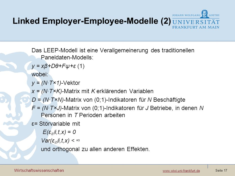 Linked Employer-Employee-Modelle (2)
