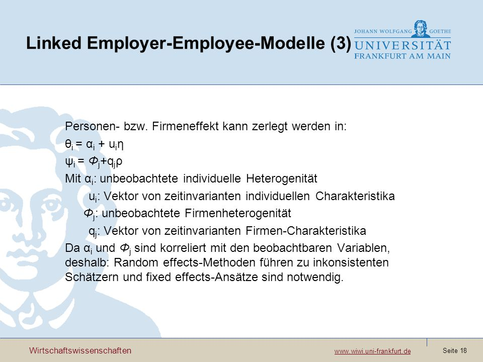 Linked Employer-Employee-Modelle (3)