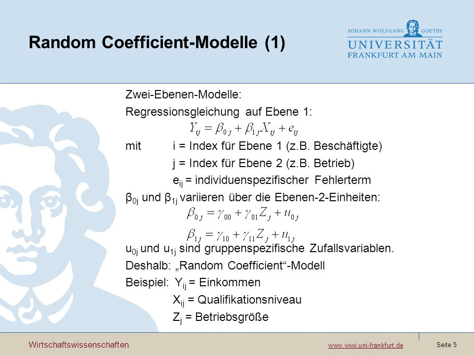 Random Coefficient-Modelle (1)