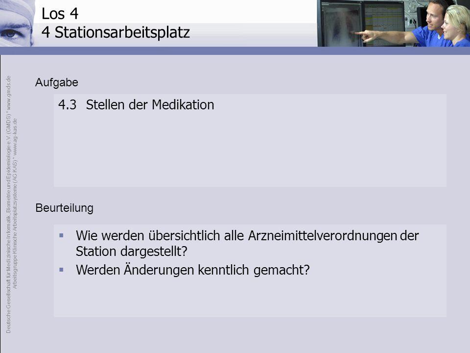 Los 4 4 Stationsarbeitsplatz