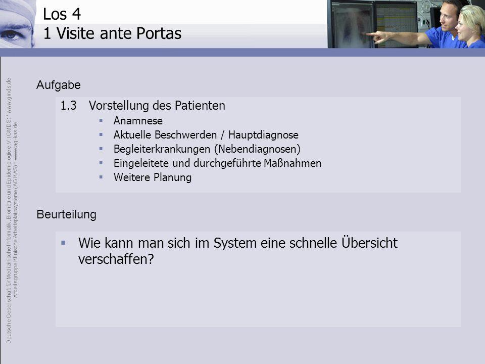 Los 4 1 Visite ante PortasAufgabe. 1.3 Vorstellung des Patienten. Anamnese. Aktuelle Beschwerden / Hauptdiagnose.