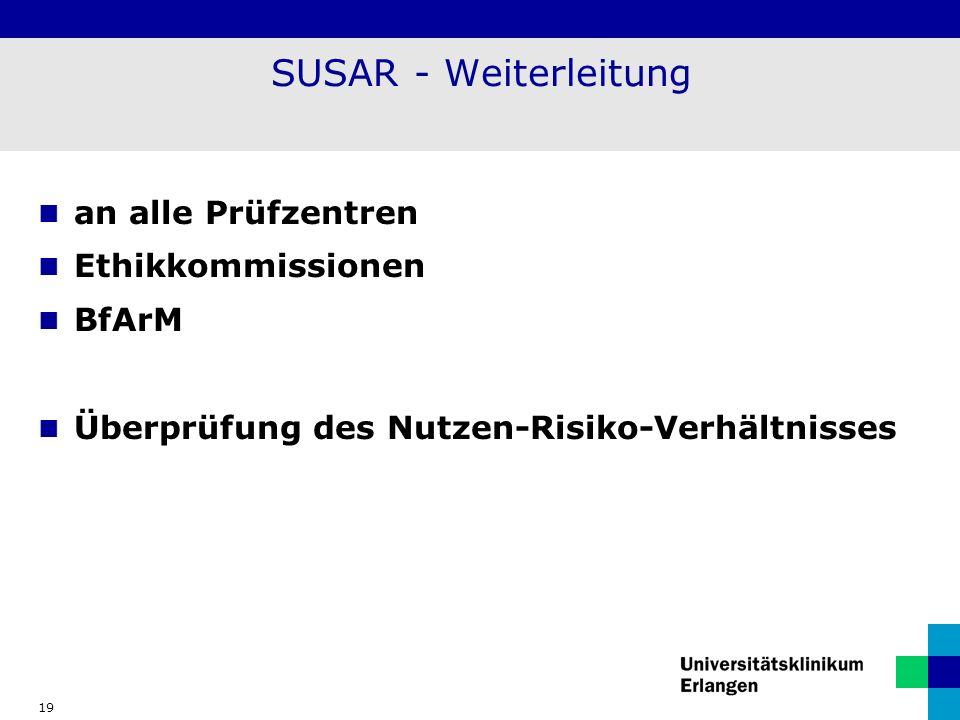 SUSAR - Weiterleitung an alle Prüfzentren Ethikkommissionen BfArM