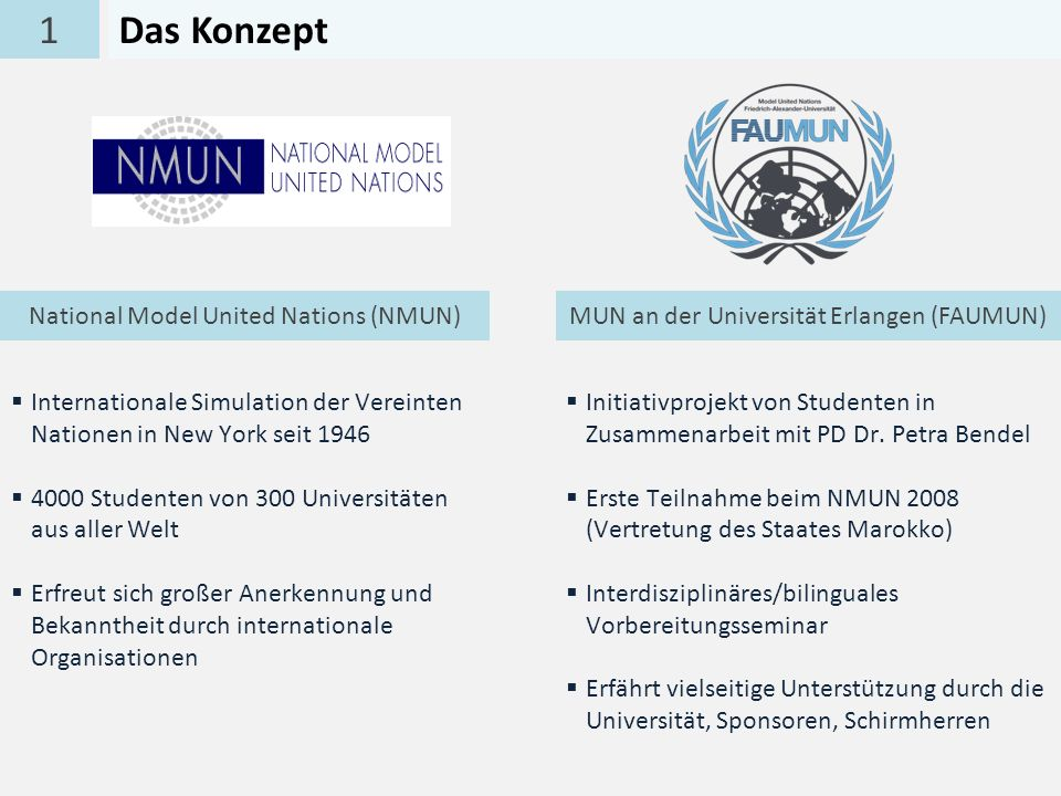 1 Das Konzept National Model United Nations (NMUN)