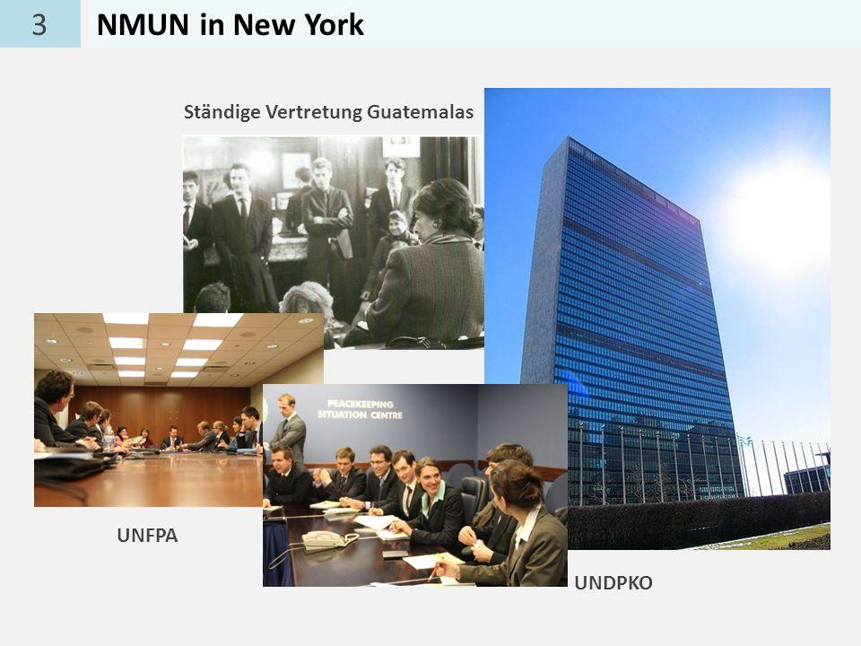3 NMUN in New York Ständige Vertretung Guatemalas UNFPA UNDPKO