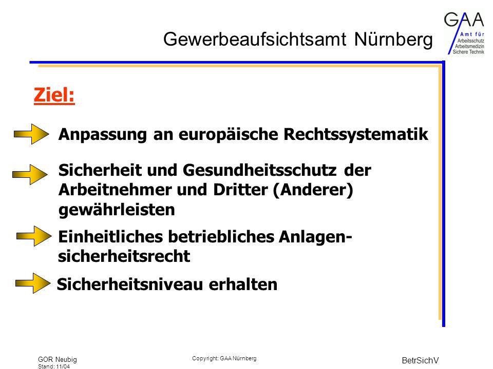 Ziel: Anpassung an europäische Rechtssystematik