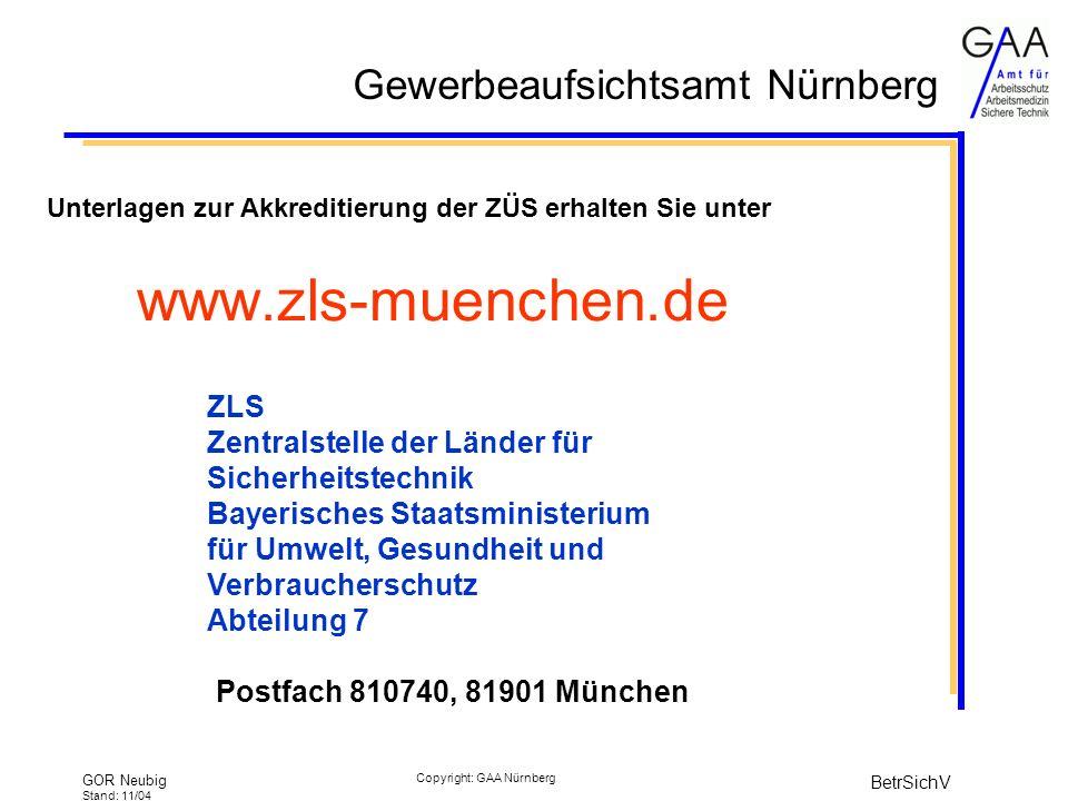 www.zls-muenchen.de ZLS Zentralstelle der Länder für