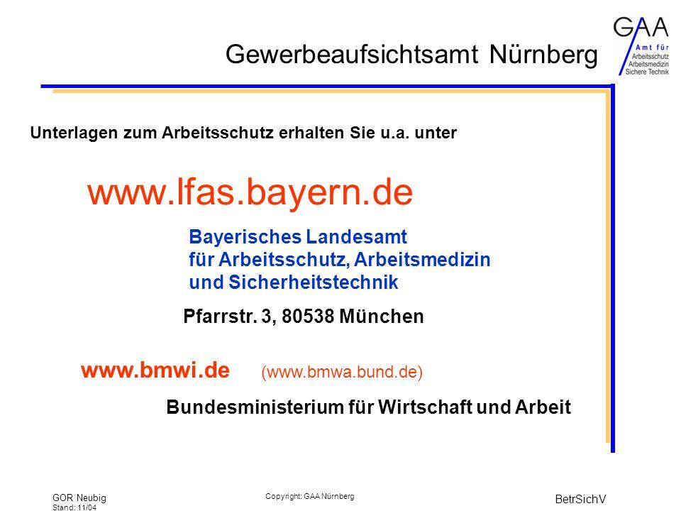 www.lfas.bayern.de www.bmwi.de (www.bmwa.bund.de)