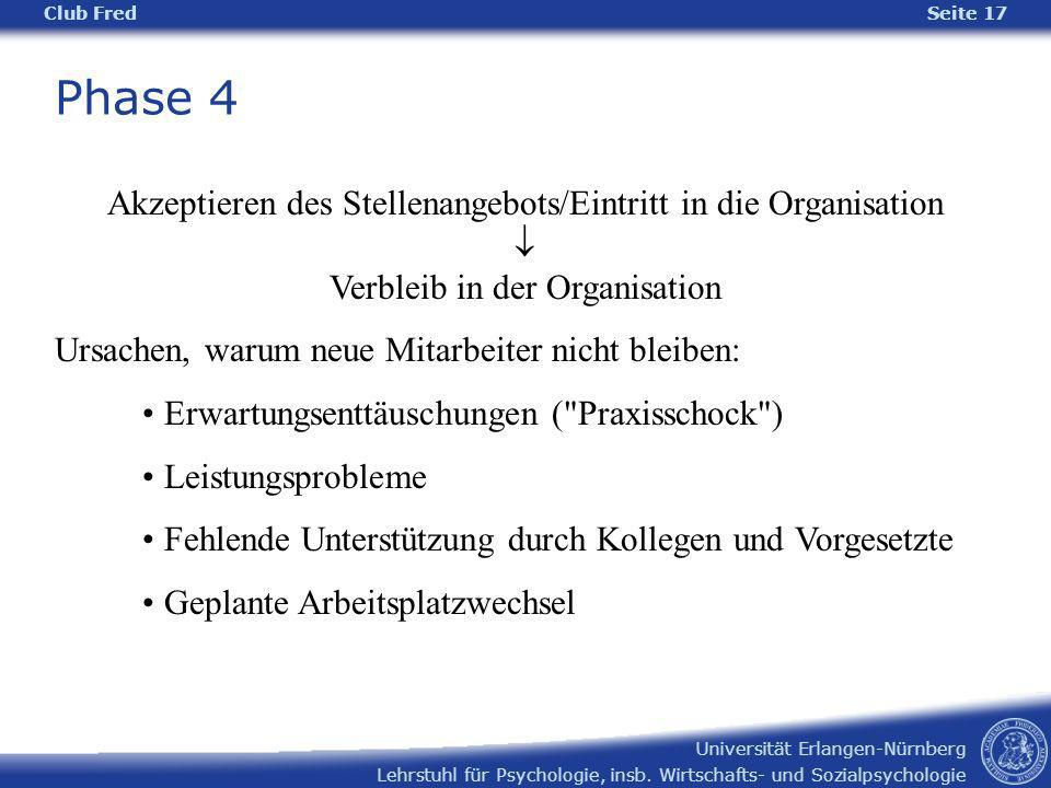 Phase 4 Akzeptieren des Stellenangebots/Eintritt in die Organisation 