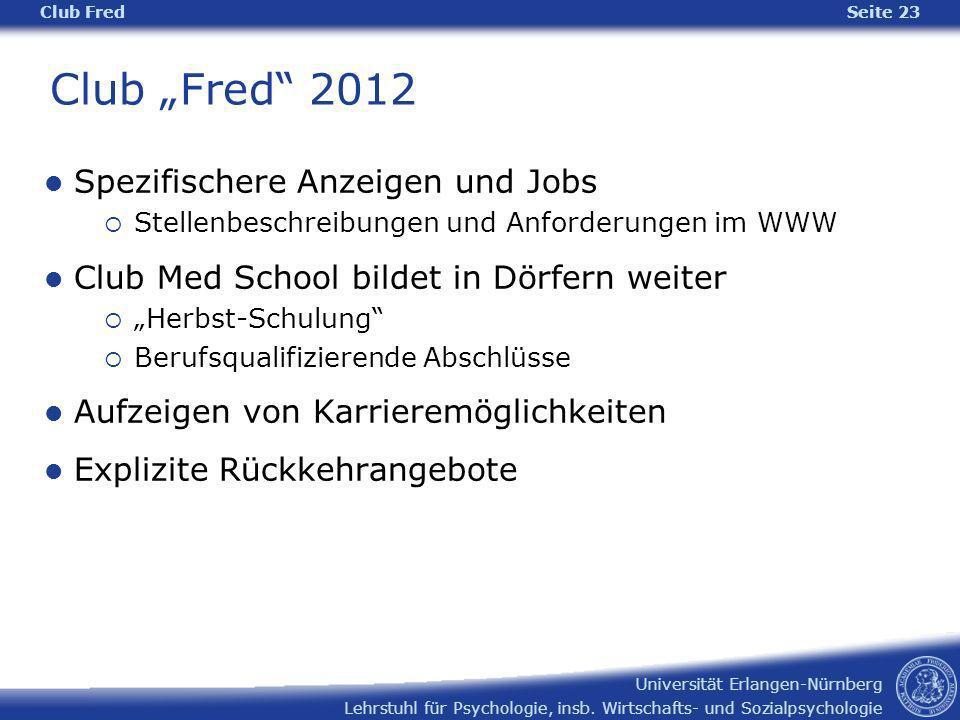 """Club """"Fred 2012 Spezifischere Anzeigen und Jobs"""