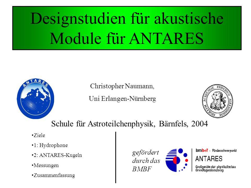 Designstudien für akustische Module für ANTARES