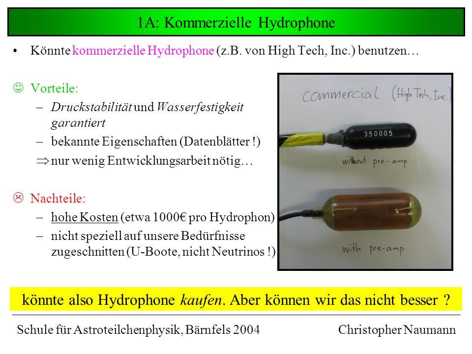 1A: Kommerzielle Hydrophone