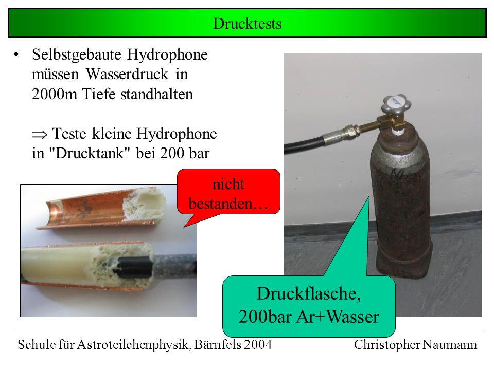 Druckflasche, 200bar Ar+Wasser