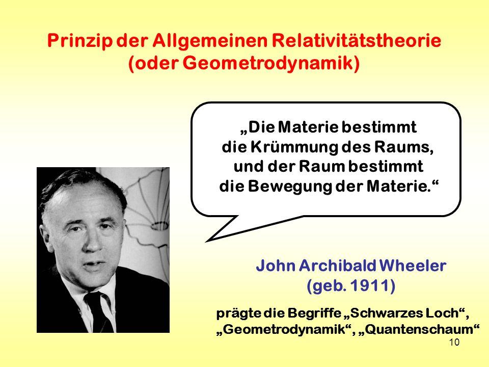 Prinzip der Allgemeinen Relativitätstheorie (oder Geometrodynamik)