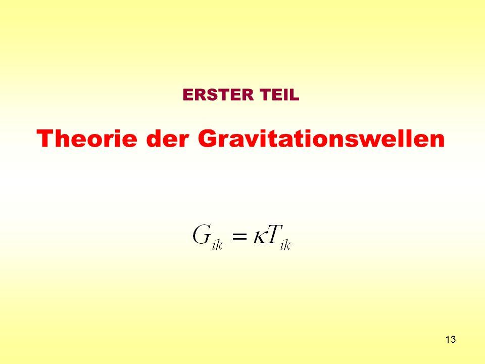 Theorie der Gravitationswellen