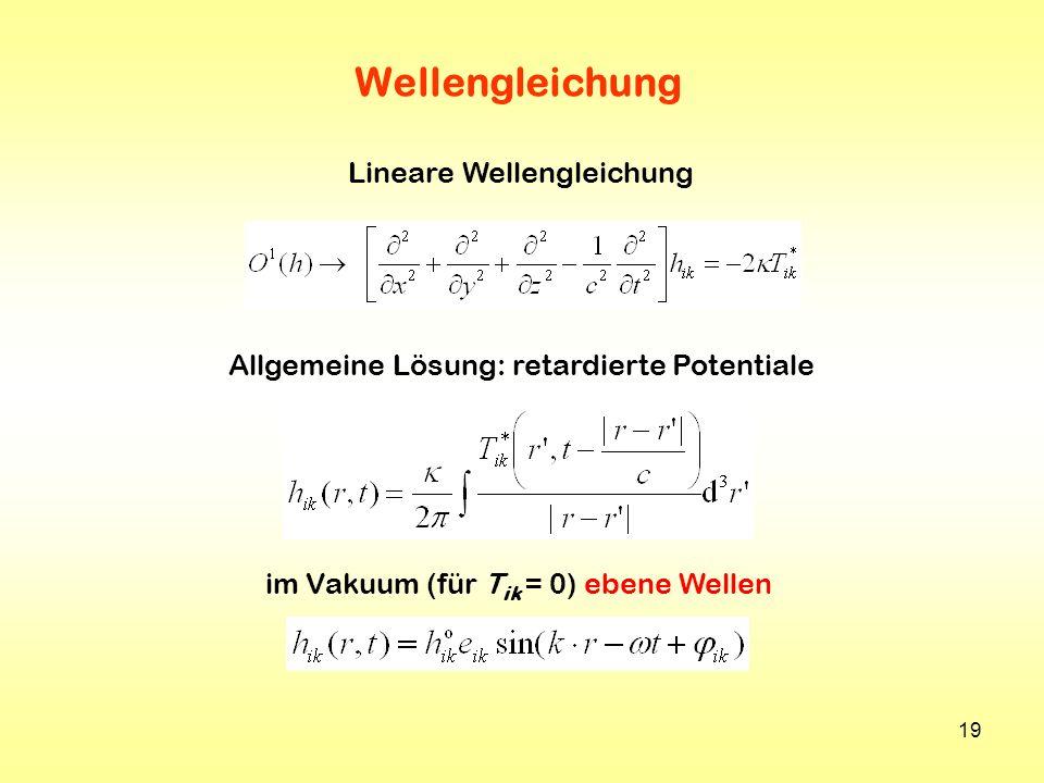 Wellengleichung Lineare Wellengleichung