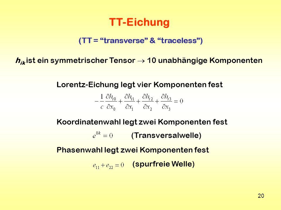 (TT = transverse & traceless )