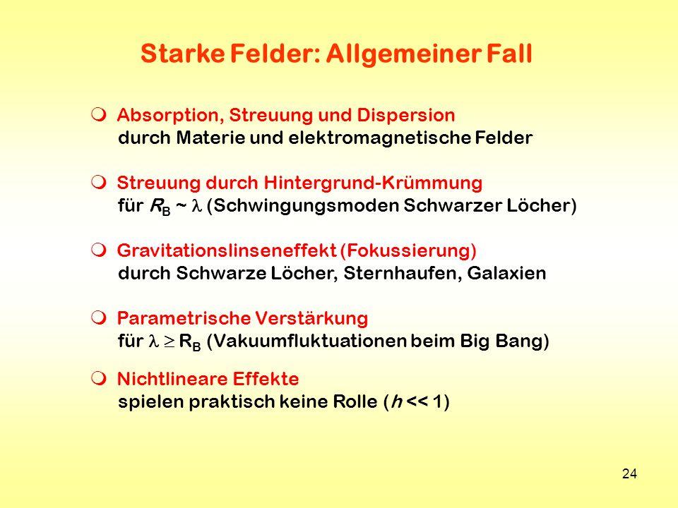 Starke Felder: Allgemeiner Fall