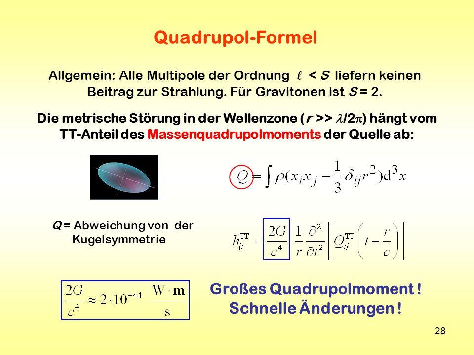 Quadrupol-Formel Großes Quadrupolmoment ! Schnelle Änderungen !