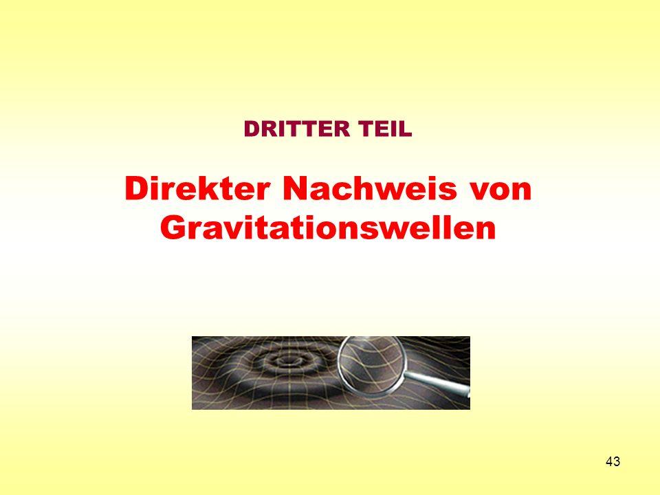 DRITTER TEIL Direkter Nachweis von Gravitationswellen