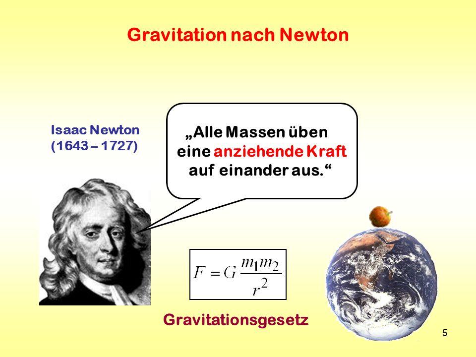 Gravitation nach Newton