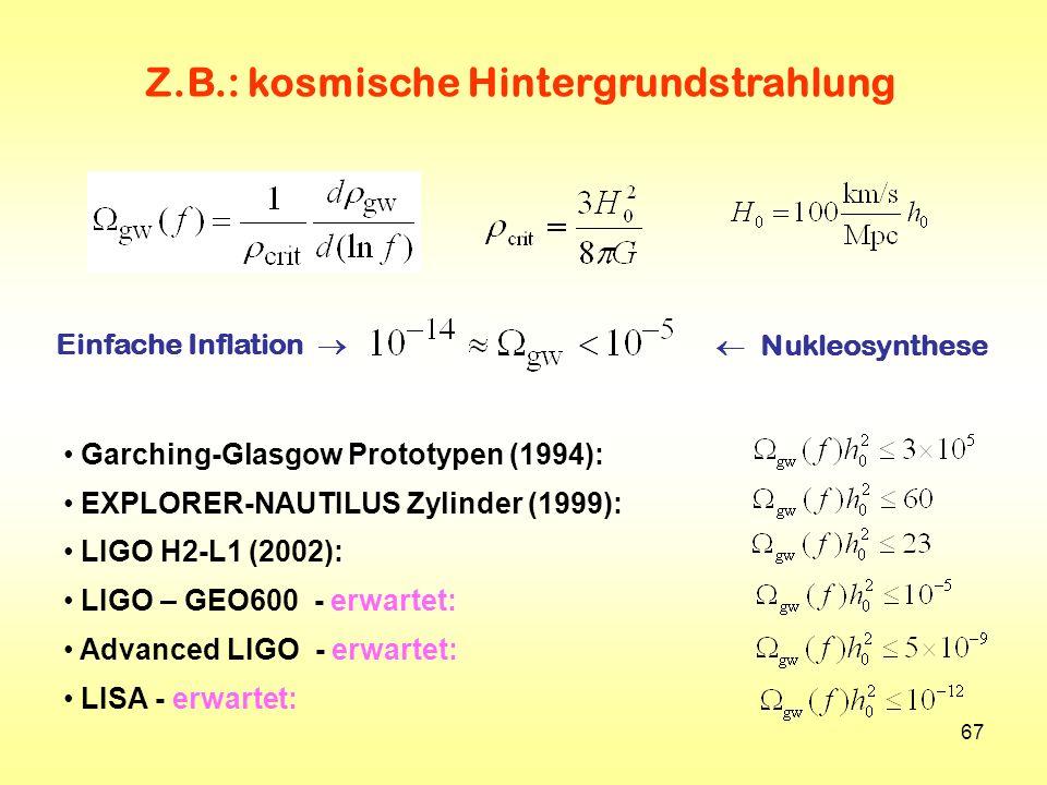 Z.B.: kosmische Hintergrundstrahlung