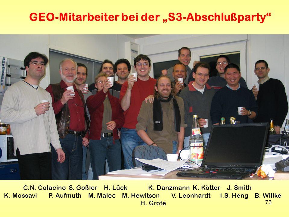 """GEO-Mitarbeiter bei der """"S3-Abschlußparty"""