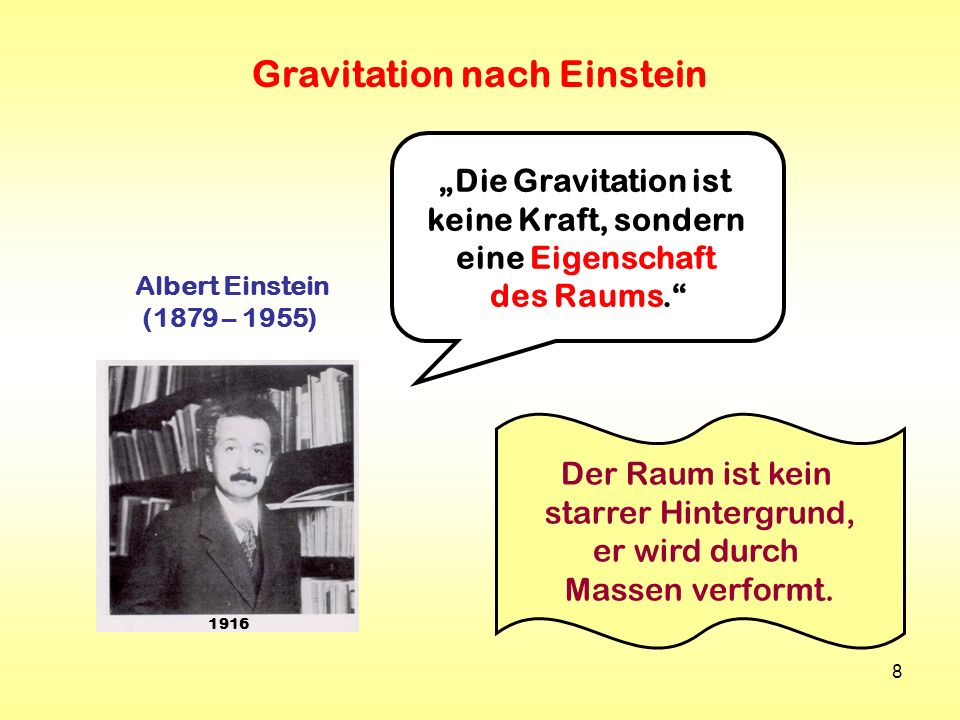 Gravitation nach Einstein