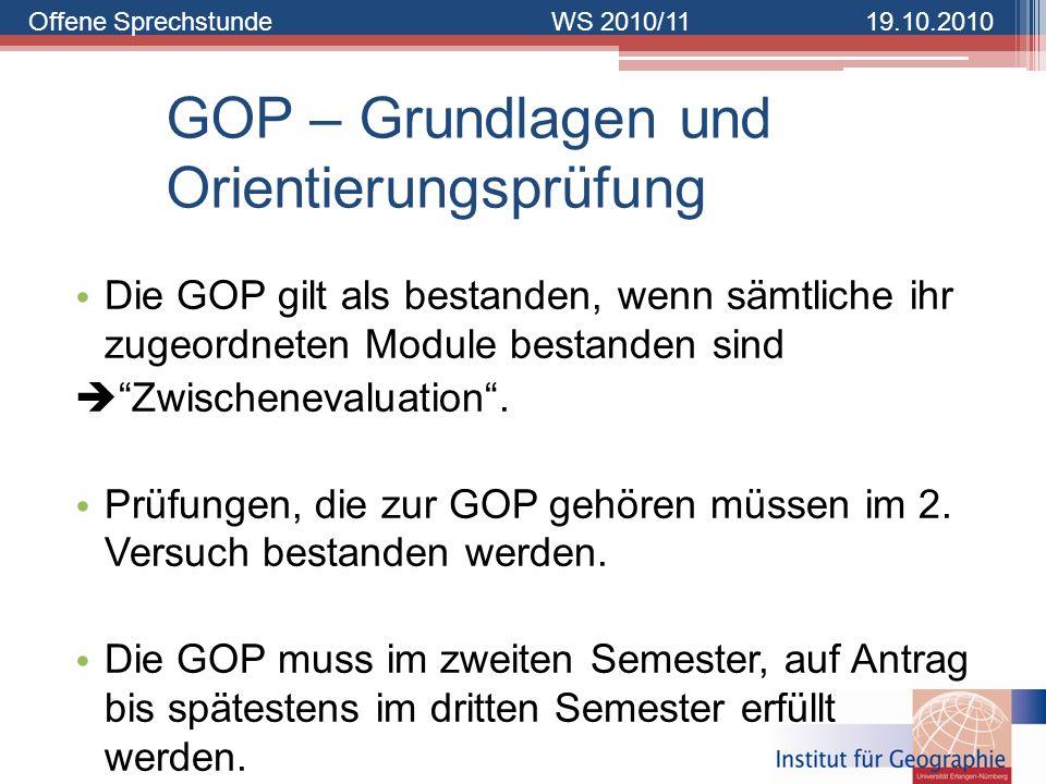 GOP – Grundlagen und Orientierungsprüfung