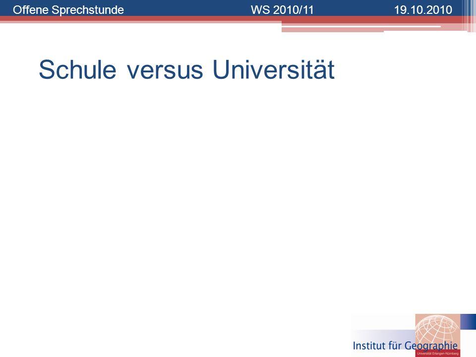 Schule versus Universität