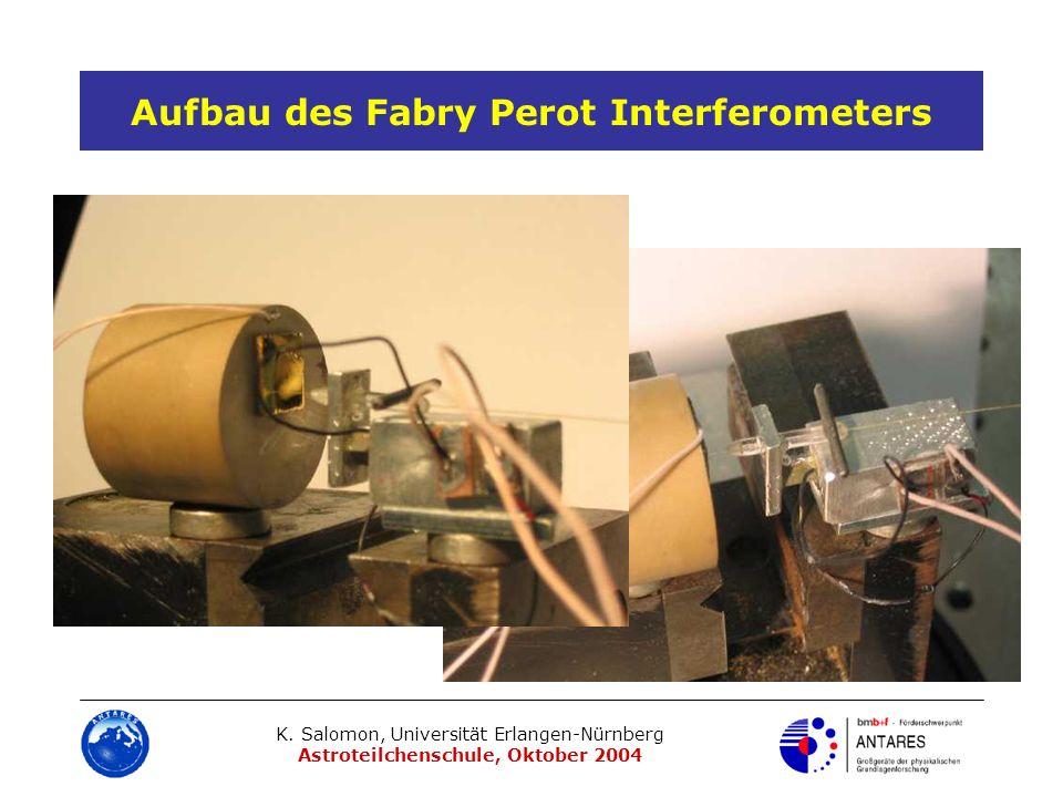 Aufbau des Fabry Perot Interferometers