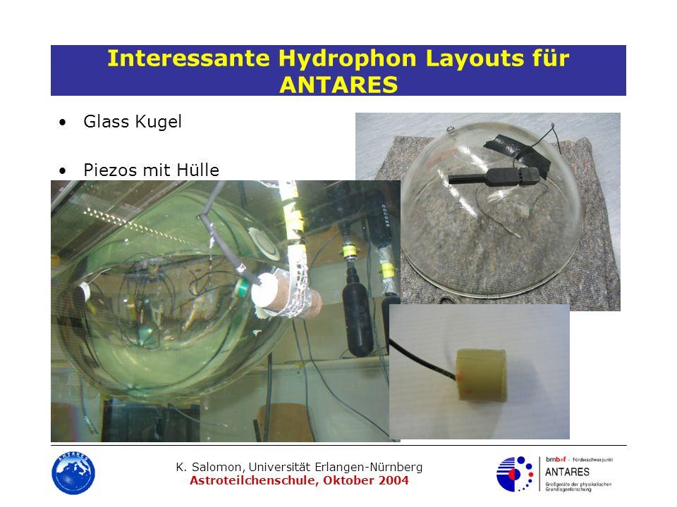 Interessante Hydrophon Layouts für ANTARES