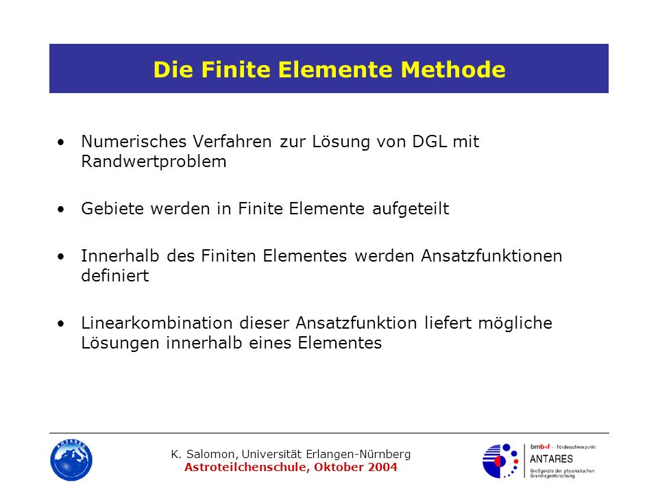 Die Finite Elemente Methode