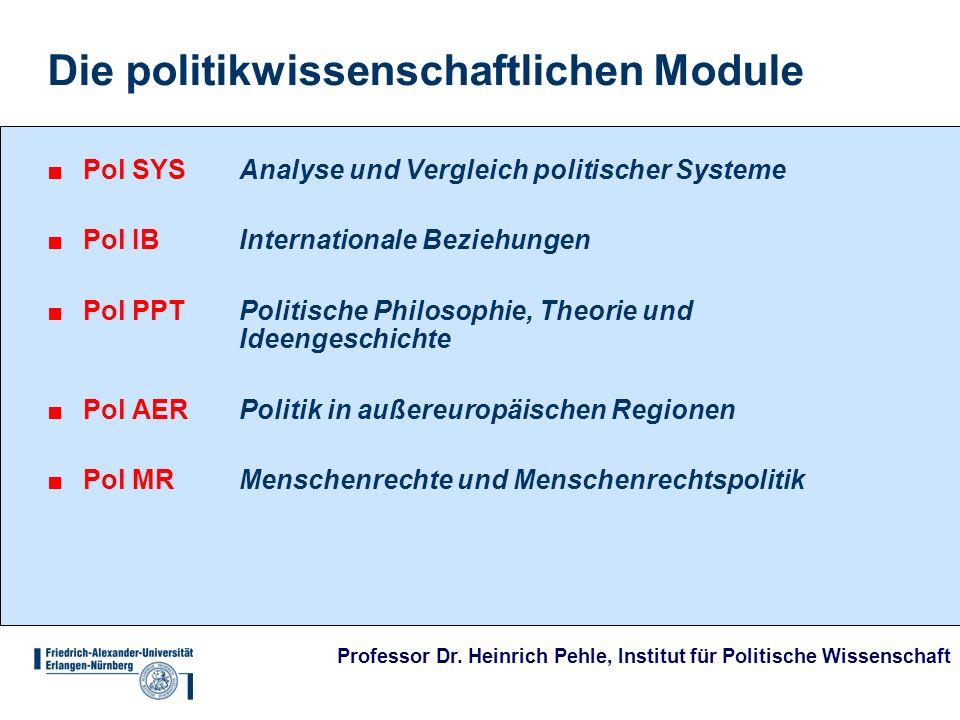 Die politikwissenschaftlichen Module