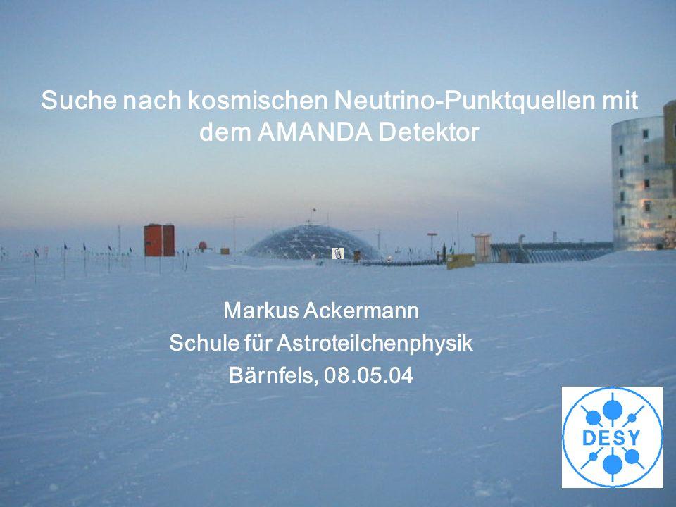Suche nach kosmischen Neutrino-Punktquellen mit dem AMANDA Detektor