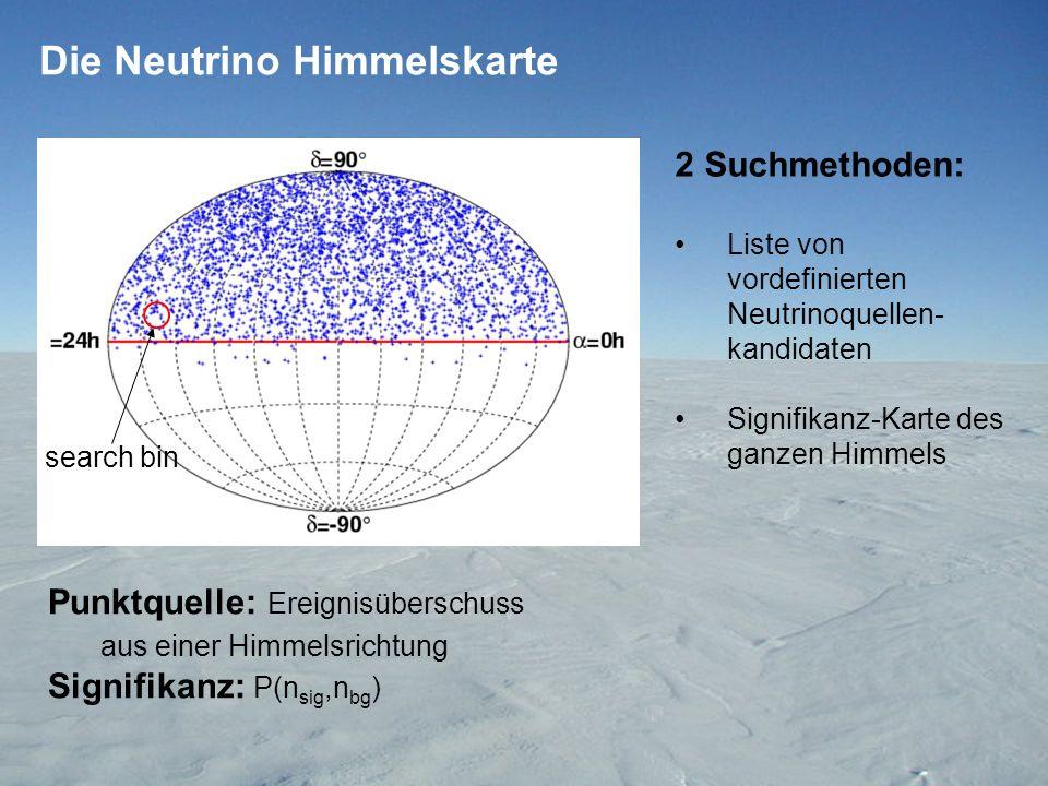 Die Neutrino Himmelskarte