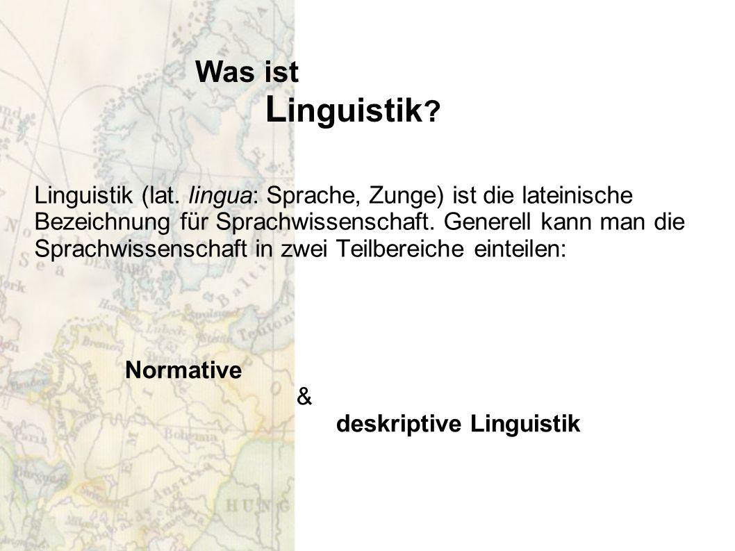 Was ist Linguistik