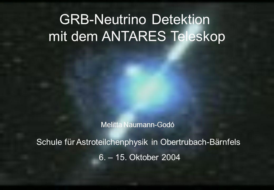 GRB-Neutrino Detektion mit dem ANTARES Teleskop