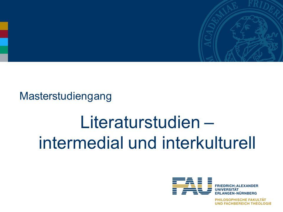 Literaturstudien – intermedial und interkulturell