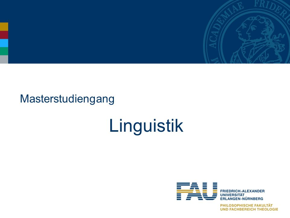 Masterstudiengang Linguistik
