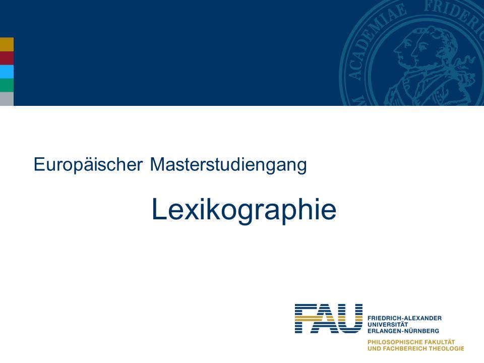 Europäischer Masterstudiengang