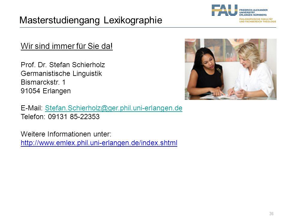 Masterstudiengang Lexikographie