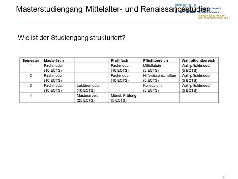 Masterstudiengang Mittelalter- und Renaissancestudien