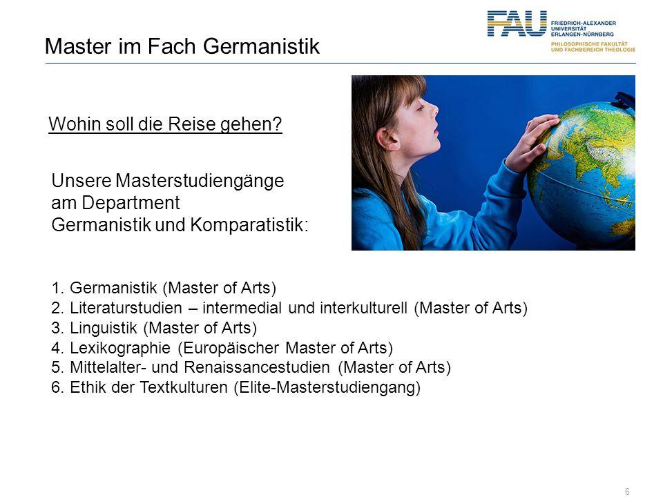 Master im Fach Germanistik