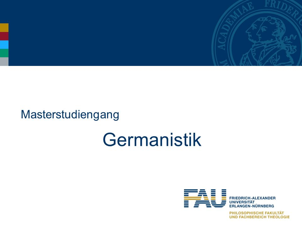 Masterstudiengang Germanistik