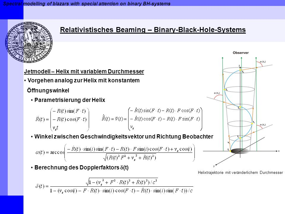 Relativistisches Beaming – Binary-Black-Hole-Systems