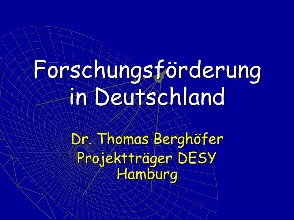 Forschungsförderung in Deutschland