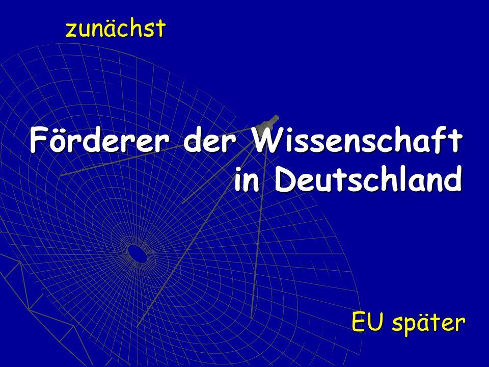 Förderer der Wissenschaft in Deutschland