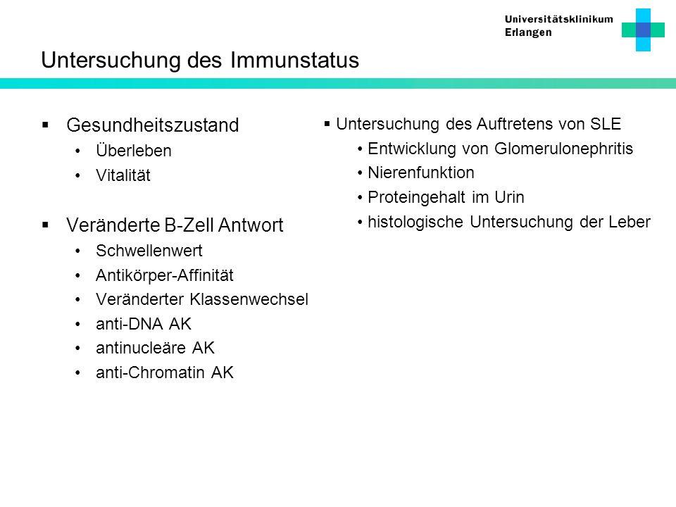 Untersuchung des Immunstatus